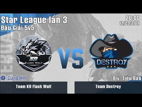 [LIVE] Giải Đấu Liên Quân Mobile - Star League lần 3: Team Kim Động Flash Wolf vs Team Destroy - Thời lượng: 1 giờ.