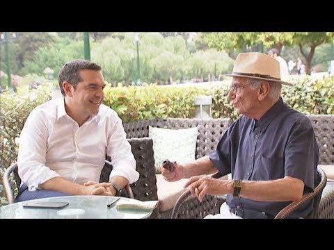 Συνάντηση του Αλέξη Τσίπρα με τον επικεφαλής του ψηφοδελτίου Επικρατείας του ΣΥΡΙΖΑ, Βασίλη Βασιλικό