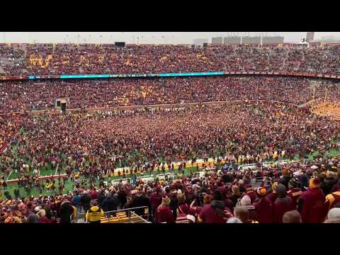 Gophers Celebrate Victory over Penn State