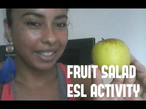 Cooking Class Idea For ESL Students/ Kids Preparing FRUIT SALAD
