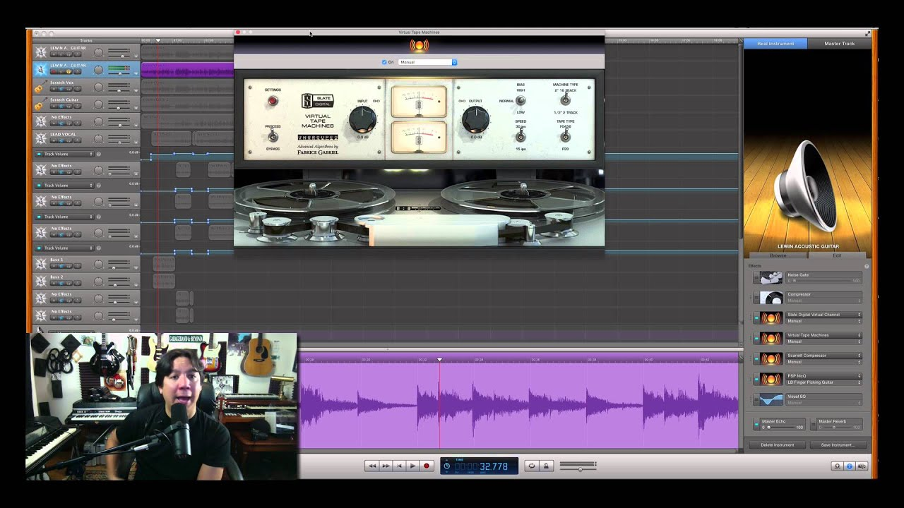 "Mixing Acoustic Guitar – My ""Secret Recipe"" of Plugins for mixing Acoustic Guitars"