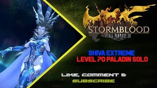 """Decided to undersized Shiva Extreme on my level 70 Paladin while bored waiting on maintenance for Patch 4.05 to start. My ilvl was i293 in this run.If you like this video, please hit """"Like"""" or """"Subscribe"""" for more videos! ^,^-------------------------------------------------------------------------------------------------------------------------------------------------------------The Boring Junk! :P-------------------------------------------------------------------------------------------------------------------------------------------------------------Watch me live on Twitch!http://twitch.tv/tatsuya227Enjoy the music from my Soundcloud!https://soundcloud.com/jordin-iuvaleFollow me on Twitter!https://twitter.com/TatsuyaArisatoFINAL FANTASY® XIV: A Realm Reborn™https://store.sonyentertainmentnetwork.com/#!/tid=CUSA00288_00FINAL FANTASY is a registered trademark of Square Enix Holdings Co., Ltd.FINAL FANTASY XIV © 2010-2015 SQUARE ENIX CO., LTD. All Rights Reserved."""