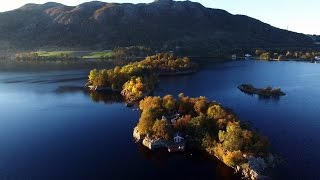 Sandnes Norway  city photo : Autumn islands 4k / DJI P3P / Storavatnet /Sandnes / Norway