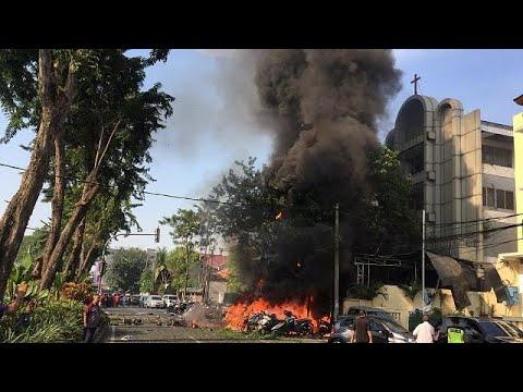 Selbstmordanschläge auf Kirchen in Indonesien - IS bekennt sich