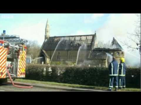 Video: church left in ruins after yobs set Bibles alight