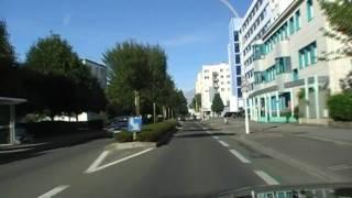 Lorient France  city photo : Driving Along Avenue Du Général Charles De Gaulle, Lorient, Morbihan, Brittany, France