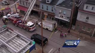 SKY 4 DRONE: Raw video of partial building collapse in MillvaleSubscribe to WTAE on YouTube now for more: http://bit.ly/1emyOjPGet more Pittsburgh news: http://www.wtae.com/Like us: http://www.facebook.com/wtae4Follow us: http://twitter.com/WTAEGoogle+: http://plus.google.com/+wtae