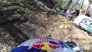 Rachel Atherton places 1st in the 2016 UCI MTB World Cup Downhill Race in Lourdes, France. Shot 100% on the HD HERO4® camera from http://GoPro.com.