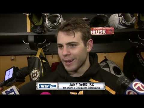 Video: Jake DeBrusk picks up three points in the Bruins win over Chicago