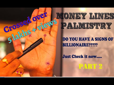 Money Lines In Palmistry Part 2 || Lottery Lines || Billionaire Lines In Hand || Wealth ||