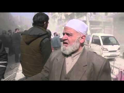 مسن يتحدث من حلب فينطق بألم الظلم حنما غاب الحق