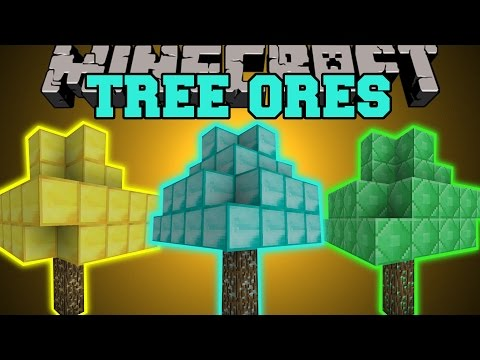 Minecraft: TREE ORES (DIAMOND TREES, EMERALD TREES, GOLD TREES, & MORE!) Mod Showcase