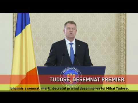 Iohannis a semnat decretul privind desemnarea lui Tudose