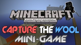 "Minecraft: Xbox 360 - ""Capture The Wool"" W/ Download [PC Converted] (Mini-Game Review)"