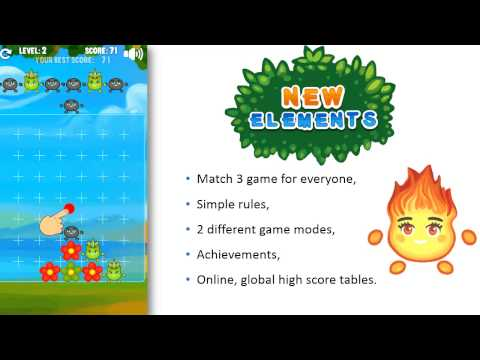 Video of New Elements - match 3 game