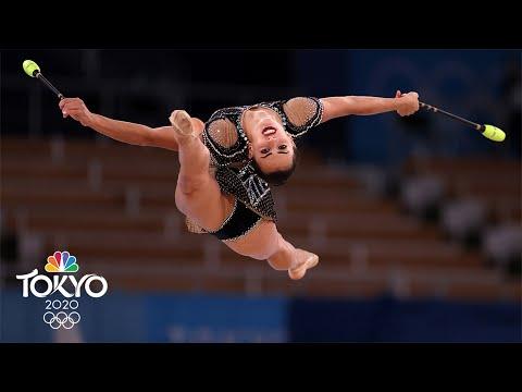 Israel's Linoy Ashram wins gold in rhythmic gymnastics SHOCKER | Tokyo Olympics | NBC Sports