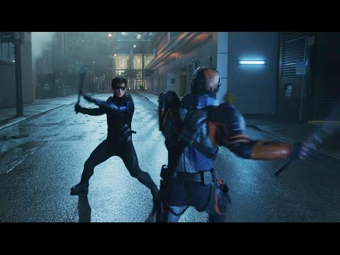 Deathstroke vs Nightwing and Ravager fight scene | Titans S02E13 Finale