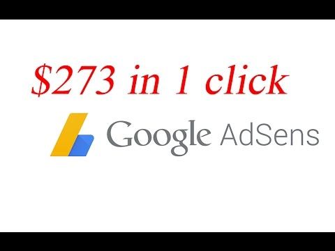 $273 in 1 click | High CPC example in Google Adsense
