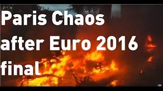 أعمال شغب في باريس بعد فوز البرتغال على فرنسا في نهائي يورو 2016