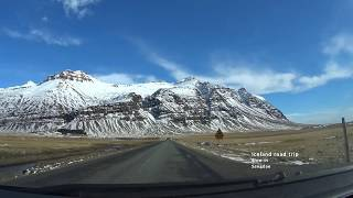Island country video from car cabine driving the Ring Road