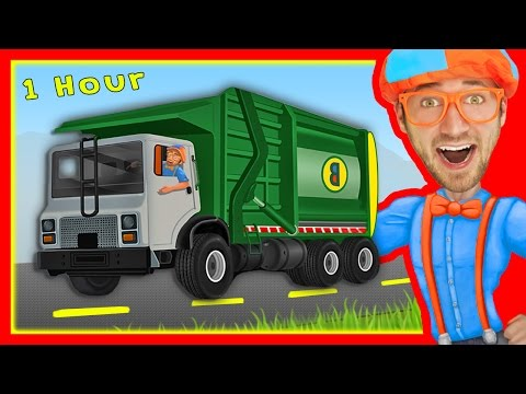 Explore Machines with Blippi | Garbage Trucks and More!