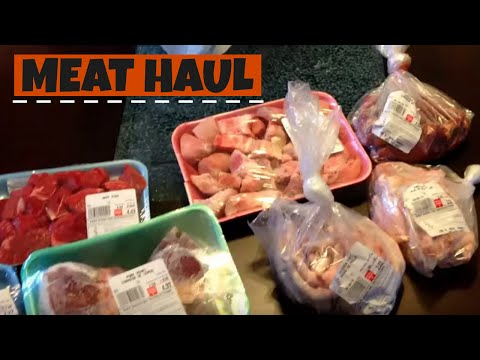 Meat haul and packaging/freezing (Ferret Raw Diet Transition)