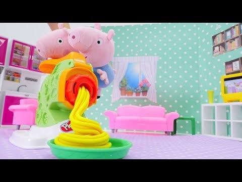 Play doh - Свинка Пеппа - Видео с игрушками и пластилин Play-Doh
