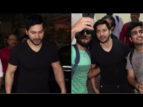 Varun Dhawan Spotted At Shoojit Sircar's Office