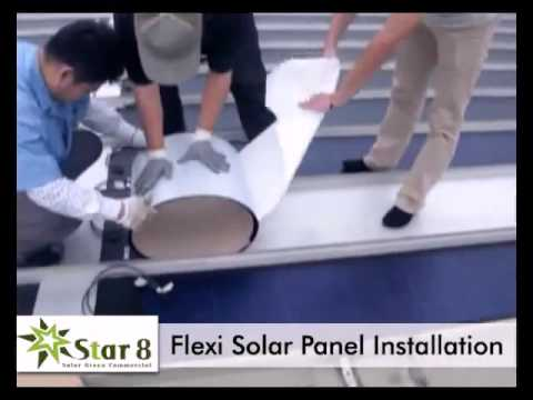 Star8 Flexible Solar Panels Installations
