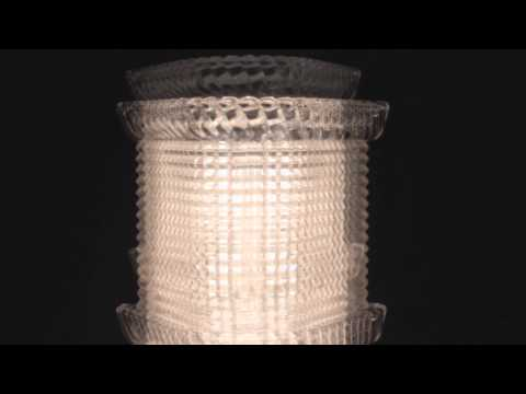 Video for Blyhte Polished Nickel Three-Light Bath Light Fixture with Pressed Crystal Inside Etched Glass