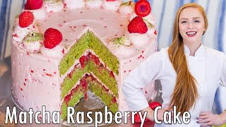 Green Tea Raspberry Cake by Tatyana's Everyday Food