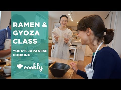 Ramen And Gyoza Making At YUCa's Japanese Cooking Class In Tokyo