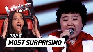 Video The Voice Kids | MOST SURPRISING 'Blind Auditions' worldwide MP3, 3GP, MP4, WEBM, AVI, FLV Februari 2018