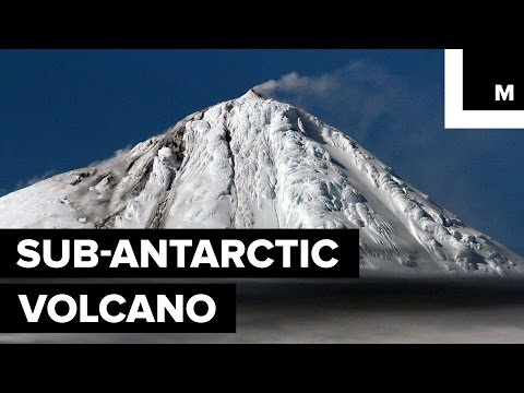WATCH: A rare icy volcanic eruption