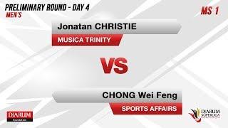 PRELIMINARY ROUNDS | MS 1 | JONATAN (MUSICA TRINITY) VS CHONG (SPORTS AFFAIRS)