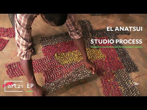 Still image from El Anatsui: Studio Process