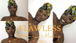 FLAWLESS MAKEUP TUTORIAL FOR BLACK WOMEN| BASIC TO GODDESS FALL 2017 | LEONORE CHRISTA