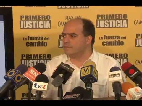 Julio Borges: Un 60% de los venezolanos no tiene confianza en los diputados del Psuv