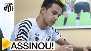 Nilmar é do Santos FC! O atacante firmou contrato até dezembro 2018. Confira a primeira entrevista do novo camisa 18 do Peixe!