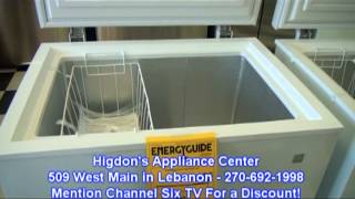 Higddon's Appliance Center - Deep Freeze Special May 2013