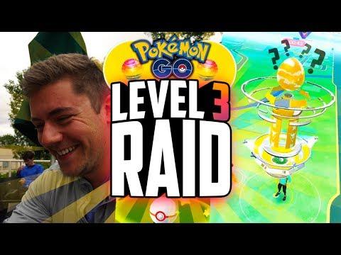 Pokemon Go - RARE LEVEL 3 RAID BOSS GAMEPLAY! (NEW Pokemon Go Raid FULL Gameplay!)