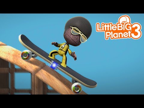 EXTREME SKATEBOARD TRICKS WITH SACKBOY! | LittleBIGPlanet 3 Gameplay (Playstation 4) (видео)