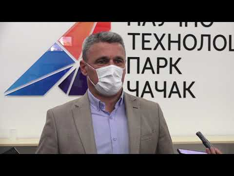 Градоначелник Чачка МИлун Тодоровић посетиоНаучно технолошки парк Чачак