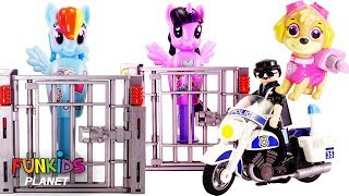 Help Rescue My Little Pony MLP from Lock and Key Playset with Paw Patrol Toys
