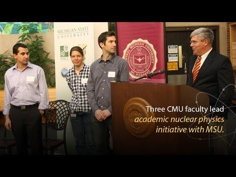 MSU und CMU auf Kernphysik Forschung zusammenarbeiten