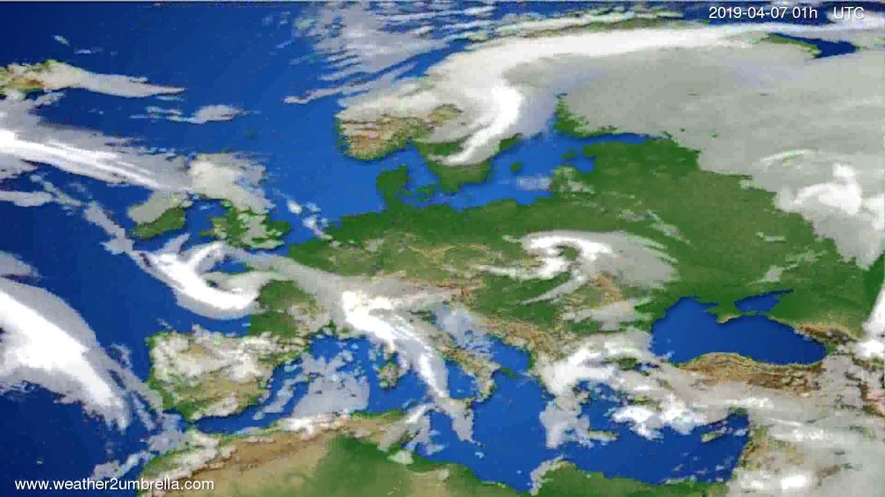 Cloud forecast Europe // modelrun: 12h UTC 2019-04-05