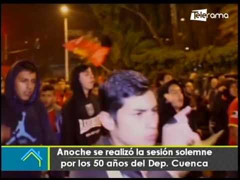 Anoche se realizó la sesión solemne por los 50 años del Dep. Cuenca