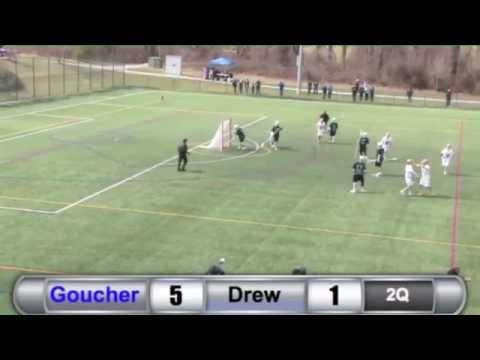 MLAX: Goucher vs. Drew Highlights - 3/28/15