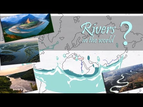 Rivers in the world ( explained on world map) | longest rivers continent wise | easy to learn