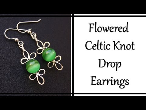 How To Make Celtic Knot Drop Earrings - Wire Wrapped Jewelry Tutorial